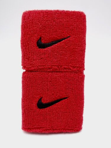"Nike Swoosh Wristbands Sport Red/Black 3"" Men"