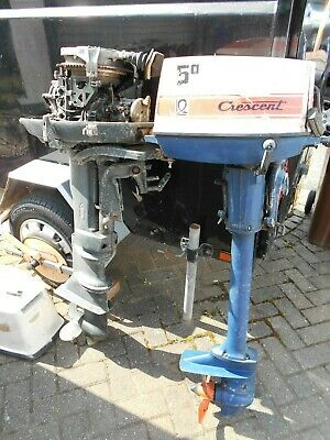 Johnson Outboard Boat Motor + Crescent Outboard 2 X Total - COLLECT