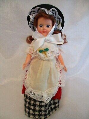 "VTG Cottage Welsh Doll 7"" Sleep Eyes-Traditional  Welsh Folk Doll-Celluloid-NEW"