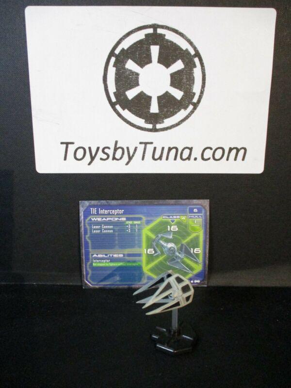 Star Wars Miniatures Starship Battles TIE Interceptor SSB w/ Card mini RPG