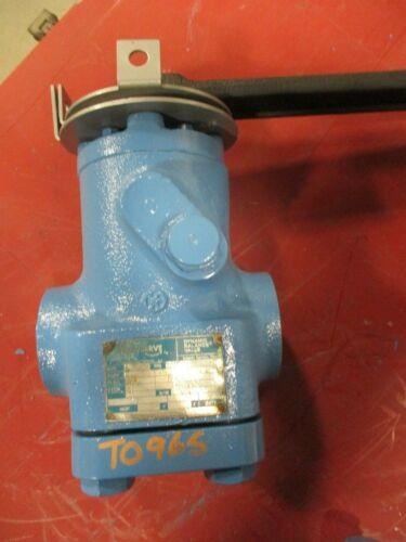 "Lubricated Plug Valve Nordstrom Dynamic Balance 3044 1"" Class 1500 NPT Thread"