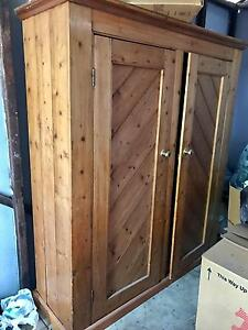 Solid antique Baltic pine wardrobe Cottesloe Cottesloe Area Preview