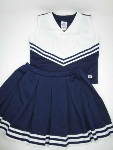NEW Adult L- 3XL Large XXXL Cheerleader Uniform Outfit Costumes Choose Navy Blue