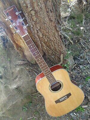 Wide-neck left-handed acoustic guitar