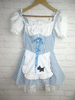 Wizard of Oz Girls size M Custom Made Dorthy Dress Halloween Costum Dress - Dorthy Halloween Costume