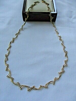 "LOVELY M&S GOLD TONE CHAIN 18""  NECKLACE for sale  Shipping to Nigeria"