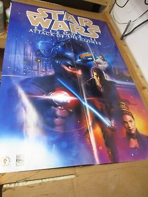 STAR WARS EPISODE II ATTACK OF THE CLONES POSTER DARK HORSE COMICS LUCUS SIGNED