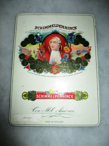 Schimmelpenninck Con Mil Amores 10 Cigar Cigars Empty Metal Tin Box From Holland