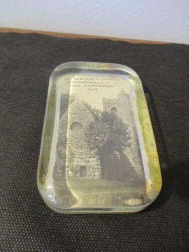 1947 Souvenir Glass Paperweight Saint Bernard