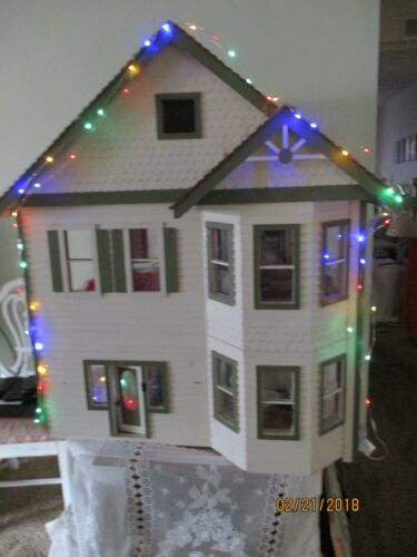 Miniature  Dollhouse 50 Multi Chging/White LED Micro Christmas Lights 8 Function