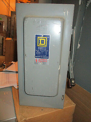 Square D Hu362 Series D 60 Amp 600 Volt 3 Phase Disconnect