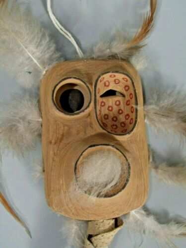 """Bad Spirit of the Mountain"" MASK by Adam John ATHABASCAN People Artist Alaska"