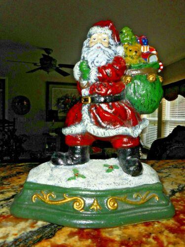 Wright Studios Cast Iron Christmas ~Santa with Toys ~ Door Stopper