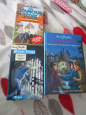 Joblot of 3 x Enid Blyton Childrens The Famous Five & Mystery Stories Books