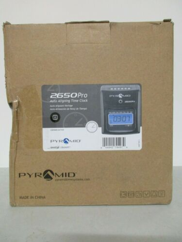 BRAND NEW PYRAMID 2650 Pro Auto Aligning Time Clock, Mechanical, LCD