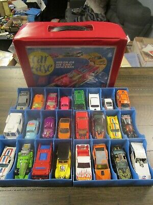 Vintage 1970s Era Hot Wheels Blackwalls Lot with Carrying Case