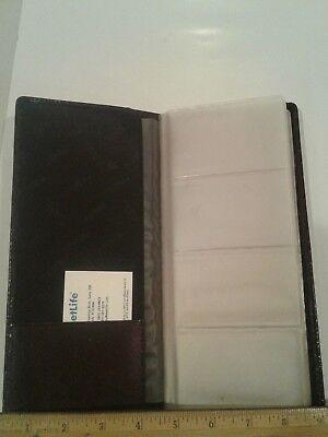 Samsill Leather Business Card Organizer