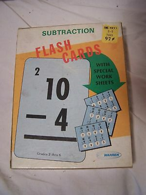 MATH FLASH CARDS, Multiplication & Division, 2 Boxes, like new, Large Size