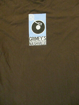 S brown GRIMEY'S RECORD STORE t-shirt - NASHVILLE, TENNESSEE - AMERICAN APPAREL - Adult Stores Nashville