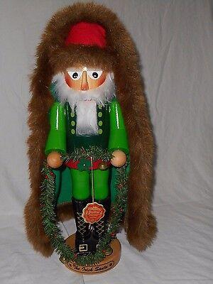 Steinbach Volkskunst The Irish Santa Nutcracker Coat Garland Bells Hat Boots EUC Irish Santa Hat