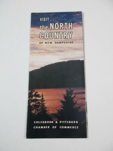 Vintage North Country Colebrook Pittsburg NH & CONN Lakes Travel Brochure~BR2