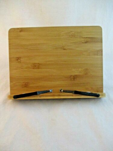 Bamboo Wood Reading Cookbook Stand Holder by Pipishell (927)