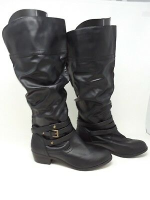 NEW! Bongo Women's Peyton Slouch Knee High Fashion Boots Blk #20408