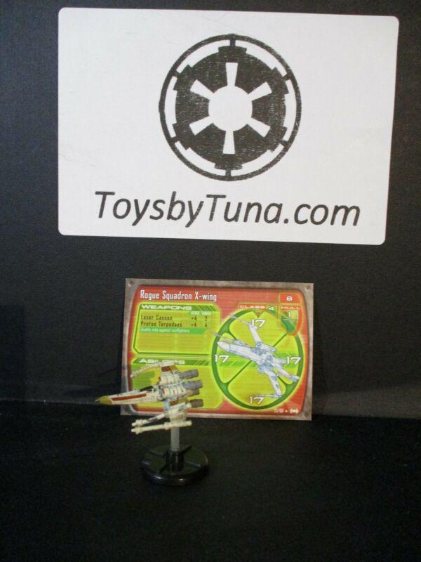 Star Wars Miniatures Starship Battles Rogue Squadron X-wing SSB w/ Card mini RPG