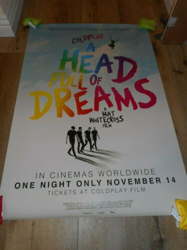 COLDPLAY - A HEAD FULL OF DREAMS - ORIGINAL SS ROLLED TEASER POSTER - 2018