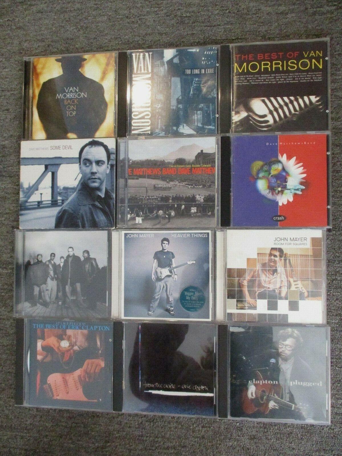 CD Lot Of 12 Eric Clapton Van Morrison John Mayer Dave Matthews