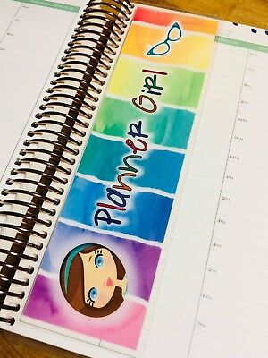 Planner Girl Twosided Short Dashboard Bookmark For Use W Erin Condren Planner