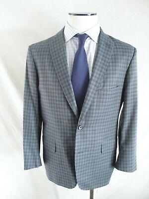 Royal Classic Tom James tailored blue plaid dual vent blazer coat jacket 40S Classic Tailored Blazer