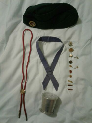 Very Rare Lavender Senior Girl Scout Tie-The Arts Program-Pins/Hat/Bolo/Cup/Lid