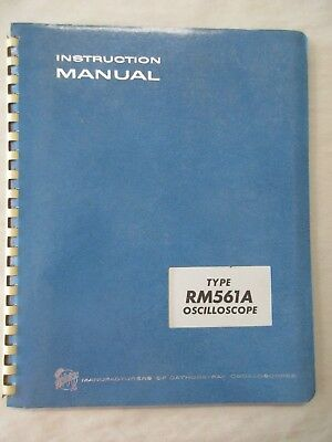 Tektronix Type Rm561a Oscilloscope Instruction Service Manual 070-0352-01