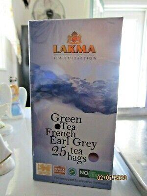 Lakma Tea Collection Green Tea FRENCH EARL GREY 25 Tea Bags