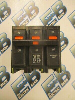 Bryant Br360 3 Pole 60 Amp 240 Volt Plug In Circuit Breaker Warranty