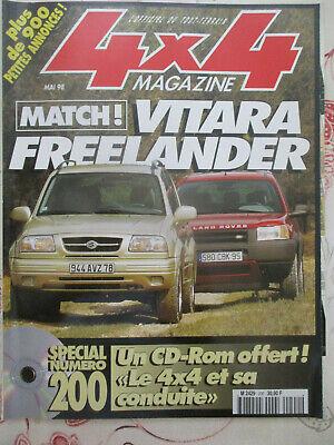 4x4 MAGAZINE: n°200: 05/1998: VITARA - FREELANDER - 30 ANS SUZUKI - PATROL GR SE