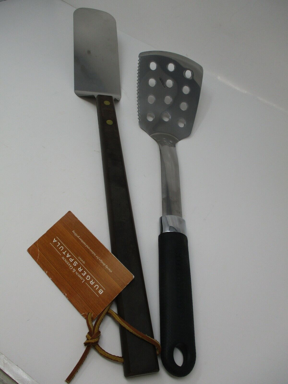 Stainless Steel Over-Sized BBQ Burger Grilling Spatula Set Of 2
