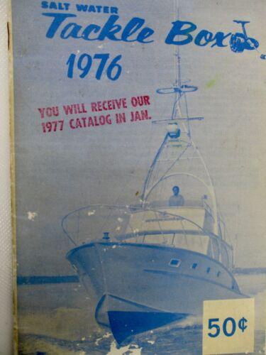 Vintage 1976 Salt Water Tackle Box Fishing Lure Rod Reel Tool Catalog