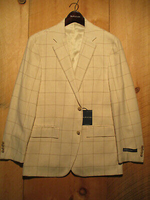 NWT $1,895 Polo Ralph Lauren Cashmere Cotton Hand Tailored Italy Sport Coat 44R