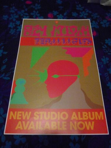 """THE FLAMING LIPS - OZCY MLODY - ORIGINAL SS PROMO POSTER - 11"""" X 17"""""""