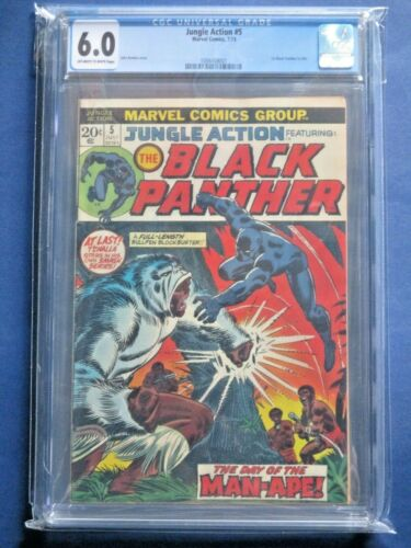 Jungle Action #5 - CGC 6.0 - Bronze Age Key - FIRST Black Panther Solo Story