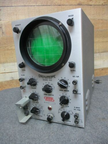 Vintage EICO Oscilloscope Model 460 DC Wide Band For Electronic Testing