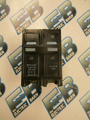 Bryant Br250 2 Pole 50 Amp 240 Volt Plug In Circuit Breaker- Warranty