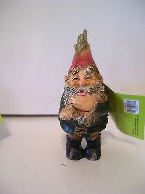 GREEN & RED OUTFIT  GARDEN GNOME RESIN FIGURINE SPRING GARDEN DECORATION ](Garden Gnome Outfit)