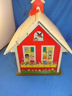 Vintage (1971) Fisher Price Little People School House #923 - Complete