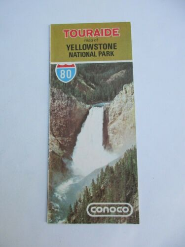 1980 Conoco Yellowstone National Park Gas Station Travel Road Map-Box 23