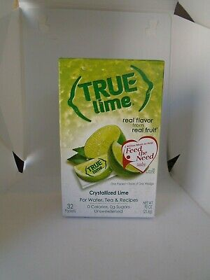 TRUE LIME CRYSTALLIZED LIME FOR WATER TEA & RECIPES 32 PACKETS Lime Tea Recipe