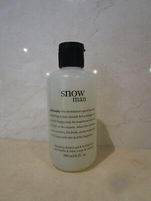 PHILOSOPHY SNOW MAN SHAMPOO, SHOWER GEL & BUBBLE BATH 6 OZ SEE DETAILS - Man Shower