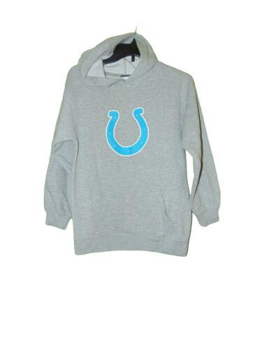Indianapolis Colts Light Blue Horseshoe Hoodie Sweatshirt Medium 10-12 Girls